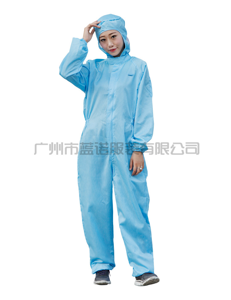 连体/蓝色/无尘服订做防静电服定制厂家
