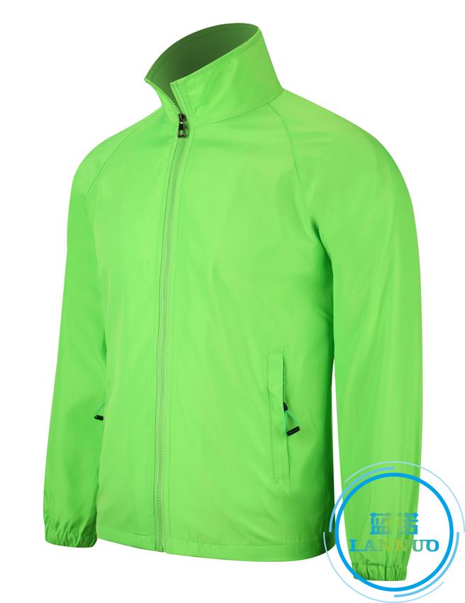 602#水蜜桃复合风衣(荧光绿)