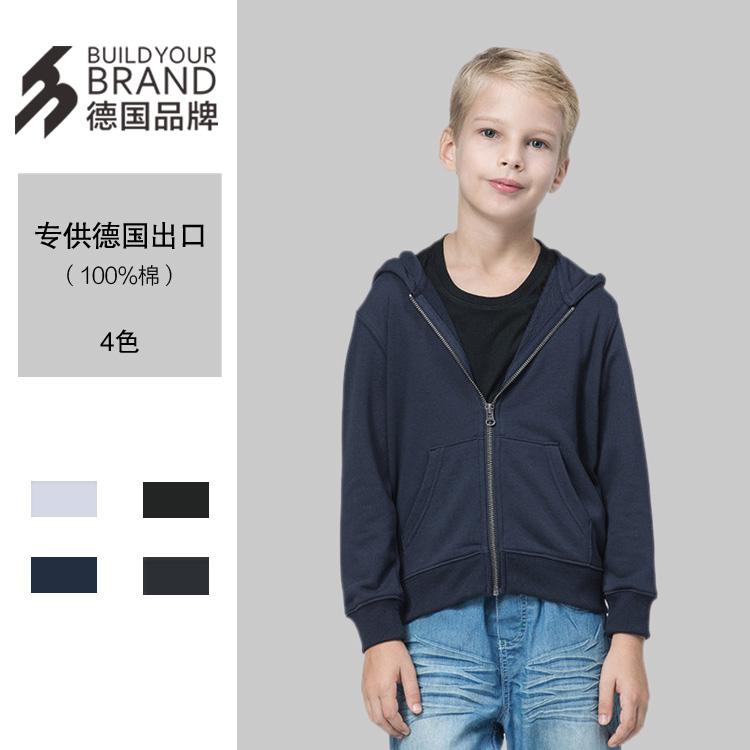 卫衣定制带帽拉链儿童卫衣毛圈300克100%纯棉