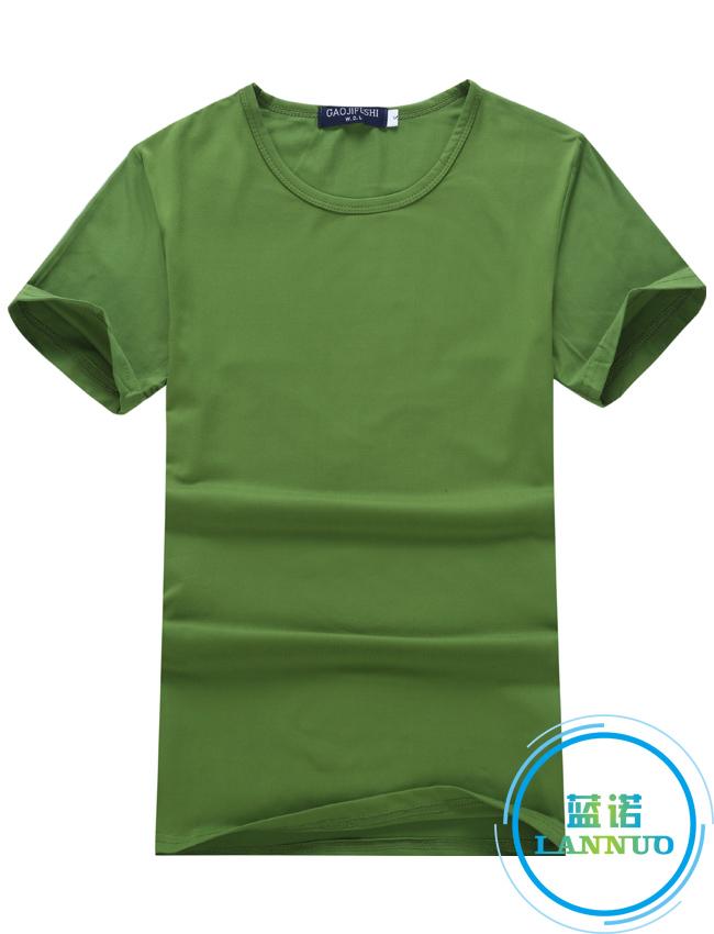 莫代尔/草绿/聚会衫订做T恤衫定制厂家