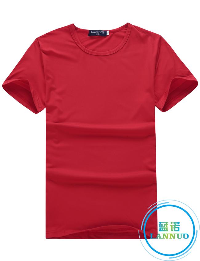 莫代尔/大红/聚会衫订做T恤衫定制厂家
