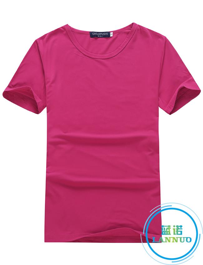 莫代尔/玫红/聚会衫订做T恤衫定制厂家