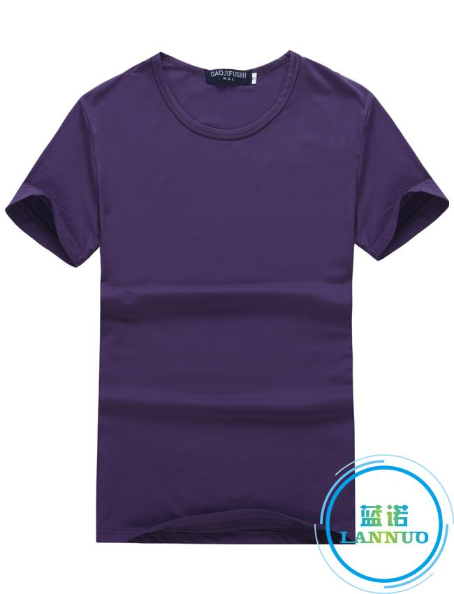 莫代尔/紫色/聚会衫订做T恤衫定制厂家