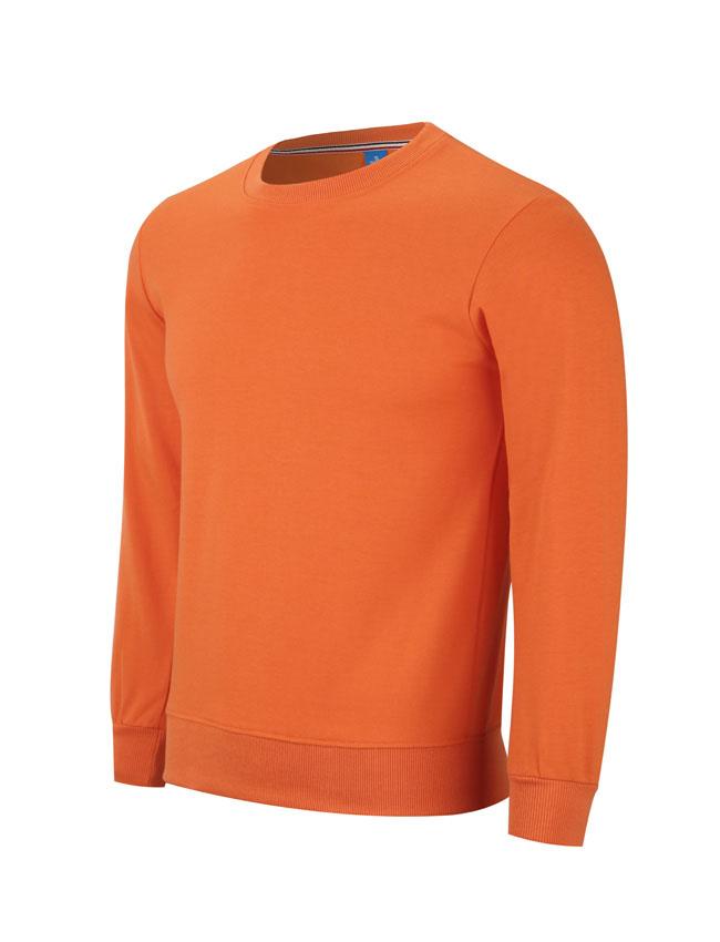 WY806橙色卫衣订做卫衣定制厂家